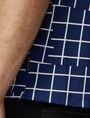 ARMANI EXCHANGE Broken Grid Printed Polo Short-sleeved polo U e
