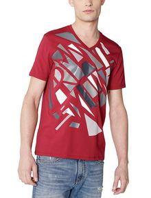 ARMANI EXCHANGE Broken Mirror Logo Tee Graphic Tee U f