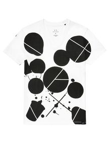 ARMANI EXCHANGE Inkblot Logo Tee Graphic Tee U d