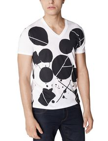 ARMANI EXCHANGE Inkblot Logo Tee Graphic Tee U f