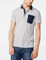 ARMANI EXCHANGE Graphic Block Polo SHORT SLEEVES POLO Man f
