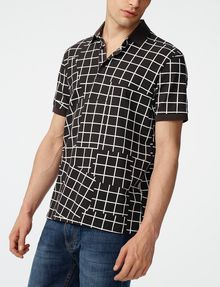 ARMANI EXCHANGE Broken Grid Printed Polo Short-sleeved polo U d