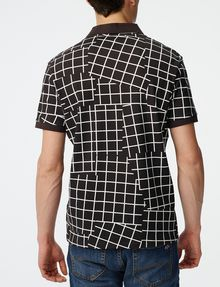 ARMANI EXCHANGE Broken Grid Printed Polo SHORT SLEEVES POLO U r