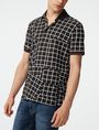 ARMANI EXCHANGE Broken Grid Printed Polo SHORT SLEEVES POLO U d