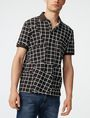ARMANI EXCHANGE Broken Grid Printed Polo Short-sleeved polo U f