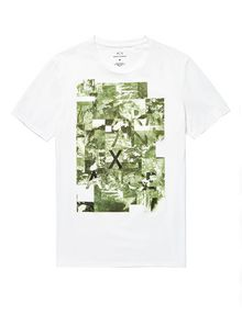 ARMANI EXCHANGE Aerial Camo Tee Graphic T-shirt Man d