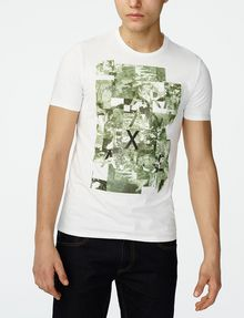 ARMANI EXCHANGE Aerial Camo Tee Graphic T-shirt Man f