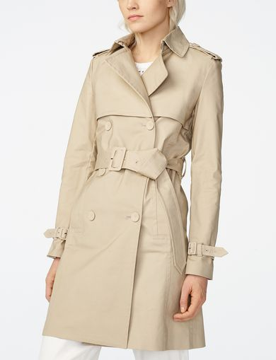 ARMANI EXCHANGE Lightweight Classic Trench Woman front