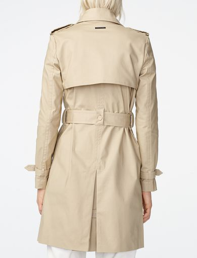 ARMANI EXCHANGE Lightweight Classic Trench Woman retro