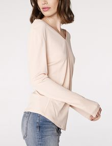 ARMANI EXCHANGE Double-V Drape Top Blouse Woman d