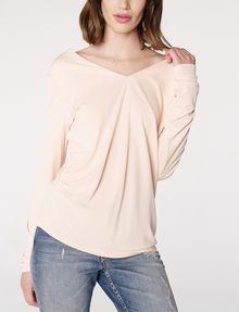 ARMANI EXCHANGE Double-V Drape Top Blouse Woman f