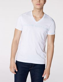 ARMANI EXCHANGE Water Flow V-Neck Tee Graphic Tee U f