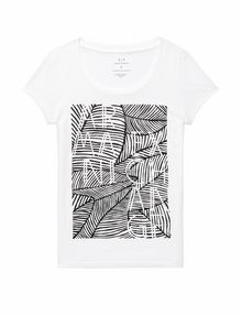 ARMANI EXCHANGE Etched Palms Tee Graphic T-shirt Woman d