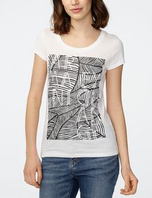 ARMANI EXCHANGE Etched Palms Tee Graphic T-shirt Woman f