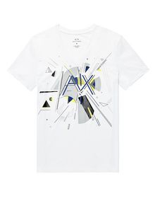ARMANI EXCHANGE Retro Shape Logo Tee Graphic Tee U d