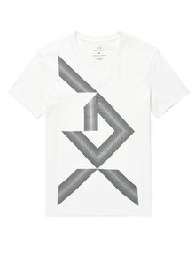 ARMANI EXCHANGE Missing Piece Logo Tee Graphic T-shirt Man d