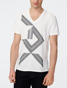 ARMANI EXCHANGE Missing Piece Logo Tee Graphic T-shirt Man f