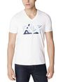 ARMANI EXCHANGE Cut & Color Logo Tee Graphic T-shirt Man f