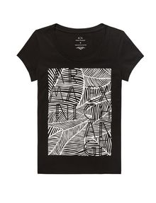ARMANI EXCHANGE Etched Palms Tee Short Sleeve Tee Woman d
