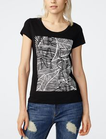 ARMANI EXCHANGE Etched Palms Tee Short Sleeve Tee Woman f