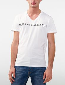 ARMANI EXCHANGE Wide Logo Tee Graphic T-shirt U f