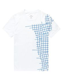 ARMANI EXCHANGE Broken Grid Split Tee Short Sleeve Tee U d