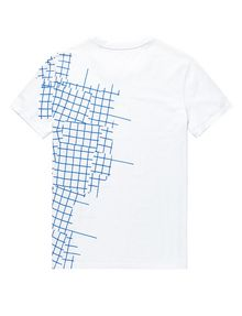 ARMANI EXCHANGE Broken Grid Split Tee Short Sleeve Tee U e