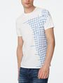 ARMANI EXCHANGE Broken Grid Split Tee Short Sleeve Tee Man f