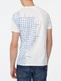 ARMANI EXCHANGE Broken Grid Split Tee Short Sleeve Tee U r