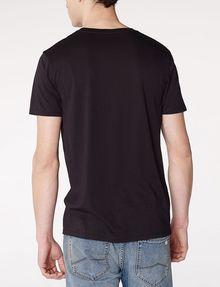 ARMANI EXCHANGE Mixed Print Logo V-Neck Graphic T-shirt U r