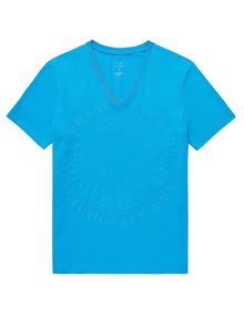 ARMANI EXCHANGE Tonal Raised Insignia Tee Graphic Tee U d