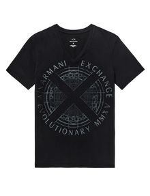 ARMANI EXCHANGE Tonal Raised Insignia Tee Graphic T-shirt Man d