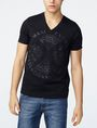 ARMANI EXCHANGE Tonal Raised Insignia Tee Graphic T-shirt Man f
