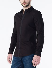 ARMANI EXCHANGE Textured No-Iron Slim-Fit Shirt Long sleeve shirt U d