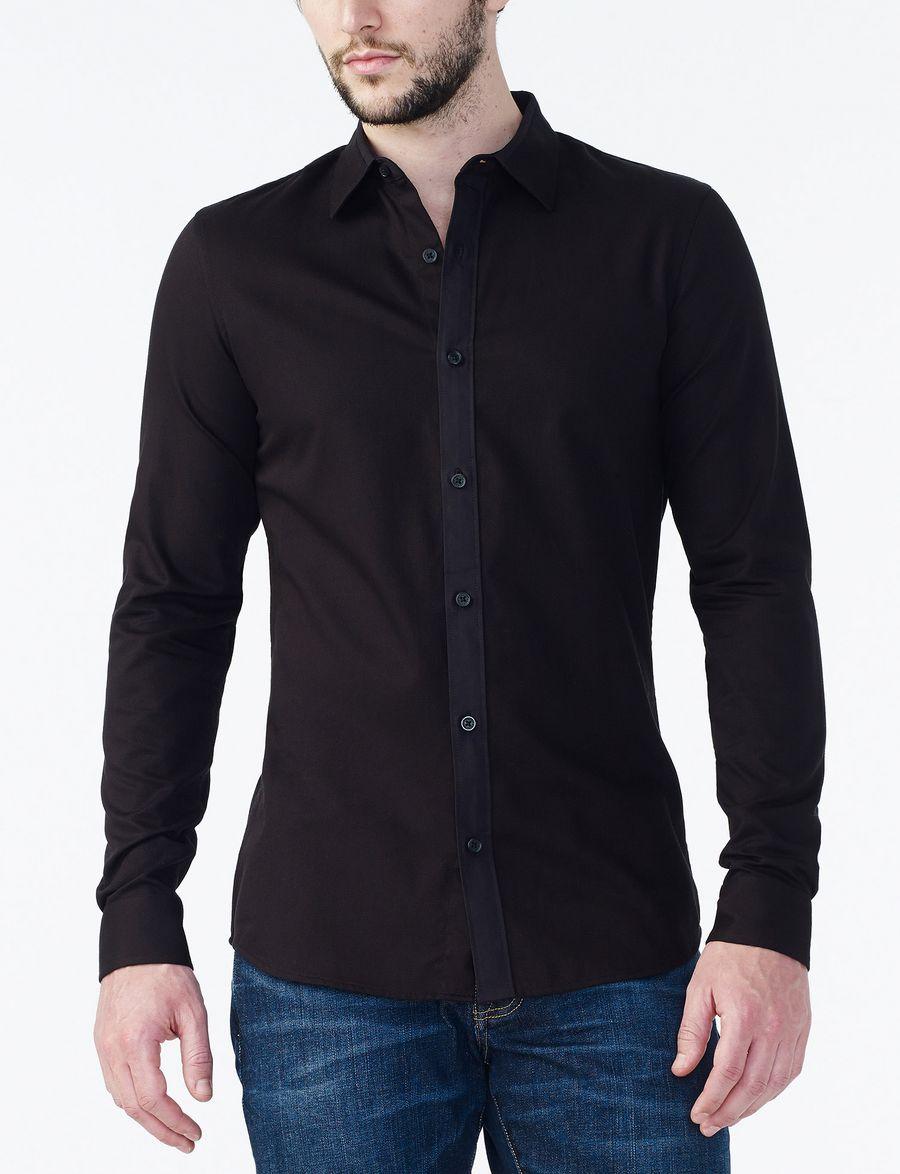 armani exchange textured no iron slim fit shirt long