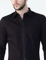 ARMANI EXCHANGE Textured No-Iron Slim-Fit Shirt Long sleeve shirt U e