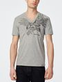 ARMANI EXCHANGE Intricate Eagle V-Neck Graphic Tee U f