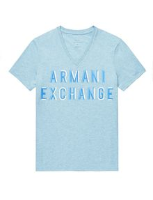 ARMANI EXCHANGE Trifecta Logo Tee Graphic Tee U d