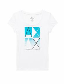 ARMANI EXCHANGE Mirrored Effect A|X Tee Short Sleeve Tee Woman d