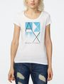 ARMANI EXCHANGE Mirrored Effect A|X Tee Short Sleeve Tee Woman f
