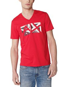 ARMANI EXCHANGE Cut & Color Logo Tee Graphic T-shirt U f