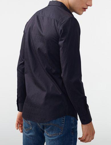 ARMANI EXCHANGE Textured Cotton Shirt Man retro