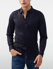ARMANI EXCHANGE Textured Cotton Shirt Long sleeve shirt Man f