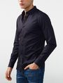 ARMANI EXCHANGE Textured Cotton Shirt Long sleeve shirt Man d