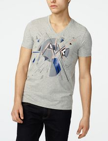 ARMANI EXCHANGE Retro Shape Logo Tee Graphic T-shirt U f