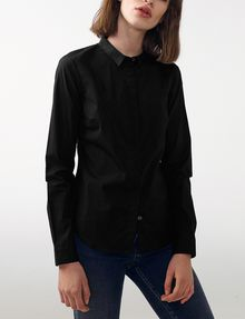ARMANI EXCHANGE Tailored Poplin Shirt Button Down Shirt Woman f