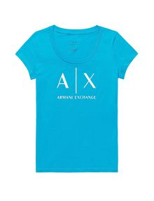 ARMANI EXCHANGE Classic A|X Scoopneck Short Sleeve Tee Woman d