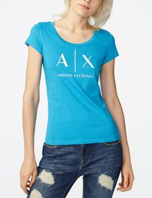 ARMANI EXCHANGE Classic A|X Scoopneck Short Sleeve Tee Woman f
