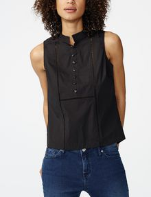 ARMANI EXCHANGE Seamed Poplin Popover Shell Woman f