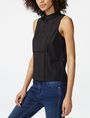ARMANI EXCHANGE Seamed Poplin Popover Shell Woman d